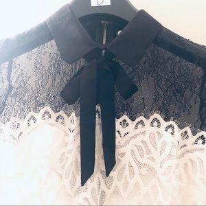Sandro Two-Tone Lace Dress